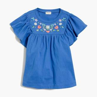 J.Crew Girls' embroidered peasant top