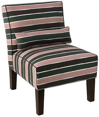 One Kings Lane Bergman Accent Chair - Cabana Stripe