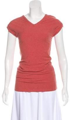 Brunello Cucinelli Monili-Trimmed Jersey T-Shirt