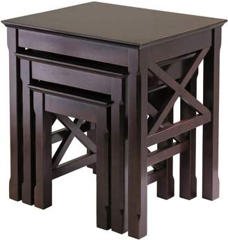 Winsome Wood Xola Nesting Table, 3-Piece