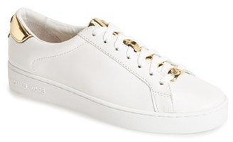 Women's Michael Michael Kors 'The Jet Set 6 - Irving' Leather Sneaker $124.95 thestylecure.com