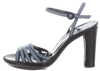 Marc Jacobs Denim Multistrap Sandals