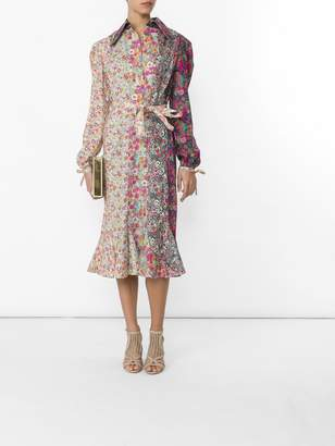 Olympia Le-Tan Olympia Le Tan Floral print belted shirt dress