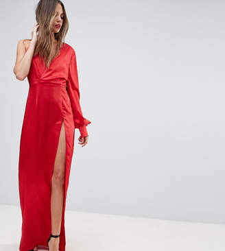 Taller Than Your Average TTYA BLACK One Shoulder Maxi Dress With High Thigh Split