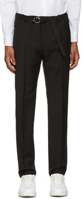 Valentino Black Belted Trousers $850 thestylecure.com