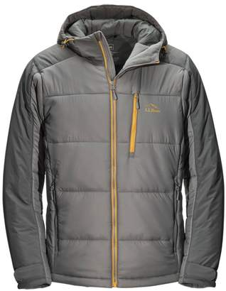L.L. Bean L.L.Bean Men's PrimaLoft Heater Hooded Jacket, Colorblock