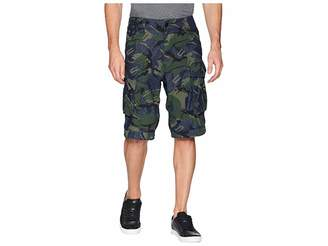 G Star G-Star Rovic Relaxed 1/2 Shorts in Raw Denim/Light Aged Olive All Over