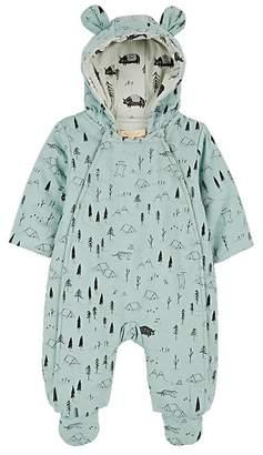 Red Caribou Infants' Expedition-Print Cotton Snowsuit