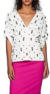Narciso Rodriguez Women's Embellished Twill Blouse - White