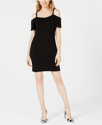 Bar III Cold-Shoulder Dress, Created for Macy's