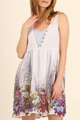 Umgee USA Floral Sleeveless Dress
