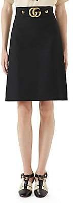 Gucci Women's GG Logo Belt Mini Skirt