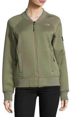 The North Face Kelana Embossed Fleece Bomber Jacket, Deep Lichen Green $130 thestylecure.com