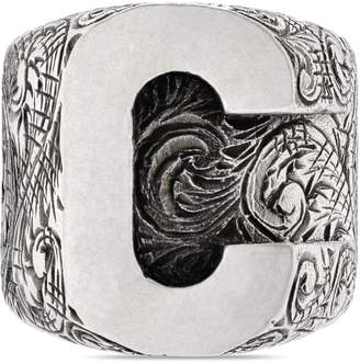 """Gucci """"C"""" letter ring in silver"""