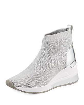 MICHAEL Michael Kors Skyler Knit High-Top Booties Sock Sneaker
