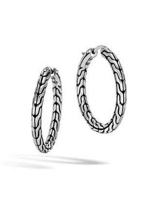 John Hardy Classic Chain Medium Sterling Silver Hoop Earrings