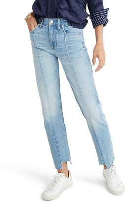 Madewell Cruiser Pieced High Waist Straight Leg Jeans