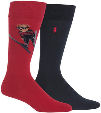 Polo Ralph Lauren Men's Big & Tall 2-Pk. Ski Jumper Bear Socks