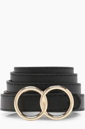 boohoo Womens Double Ring Belt - Black