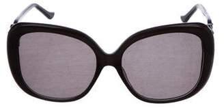 Judith Leiber Strass Square Sunglasses