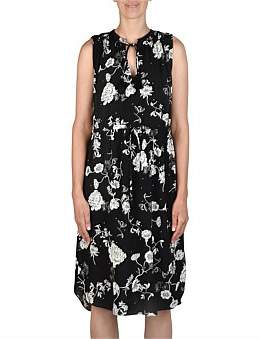 Jump Sleeveless Floral Tassel Dress