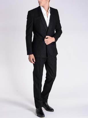 Maison Margiela (メゾン マルジェラ) - Maison Margiela チョークストライプ ショールカラー スーツ ブラック 46