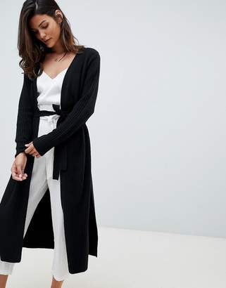 Micha Lounge Maxi Cardigan With Side Split