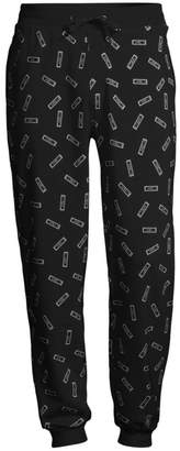 Moschino Allover Tag Cotton Joggers