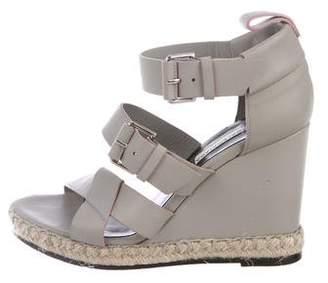 Balenciaga Leather Wedge Sandals