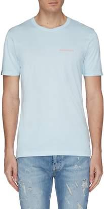 Denham Jeans Logo slogan print back T-shirt