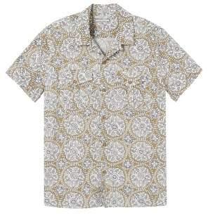 MANGO Regular-fit printed cotton shirt