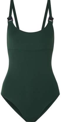 Eres Edge Set Up Buckled Swimsuit - Dark green