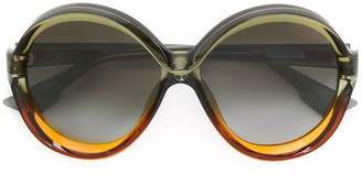 Christian Dior oversized round frame sunglasses