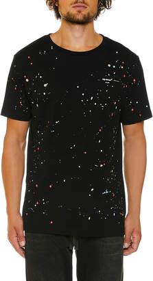 Off-White Off White Men's Paint-Splatter Slim T-Shirt