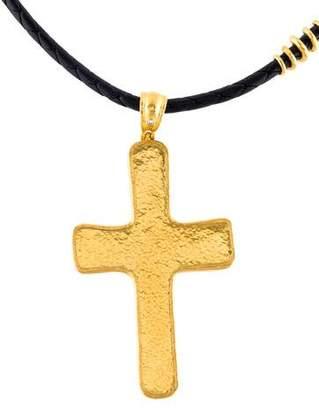 Gurhan 24K Diamond Cross Pendant Necklace