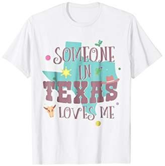 Someone In Texas Loves Me Dallas Tshirt Kids Girls Boys Gift