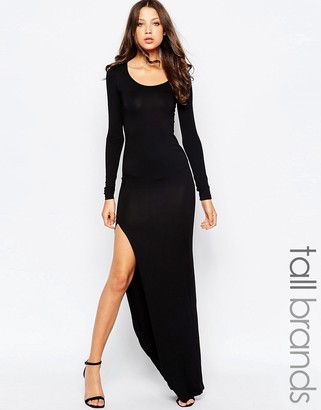 Taller Than Your Average TTYA Long Sleeve Maxi Dress With Thigh High Split $108 thestylecure.com