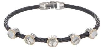 Alor 18K Gold & Stainless Steel White Topaz Station Bracelet