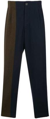 Uma Wang patchwork-effect tapered trousers