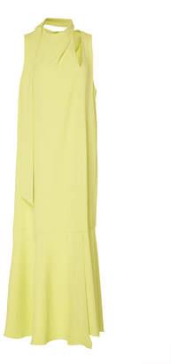 Tibi Cutout Twill Midi Dress