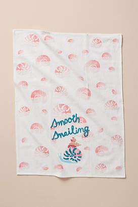Anthropologie Smooth Snailing Dish Towel