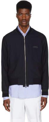 Wooyoungmi Blue Small Logo Zip-Up Jacket