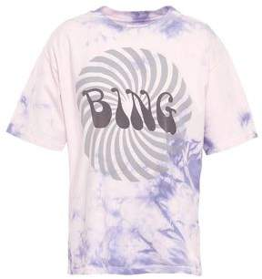 Anine Bing Tie-dyed Printed Cotton-jersey T-shirt