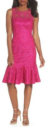Eliza J Sleeveless Lace Sheath Dress (Regular & Petite)