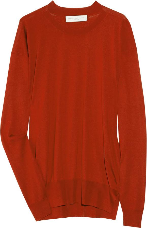 Stella McCartney Cashmere, silk and wool-blend sweater