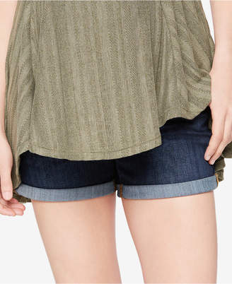 A Pea in the Pod Luxe Essentials Cuffed Denim Maternity Shorts