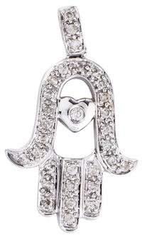 Sydney Evan 14K Diamond Hamsa Pendant