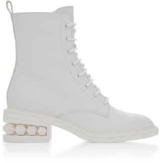 Nicholas Kirkwood Suzi Leather Combat Boot