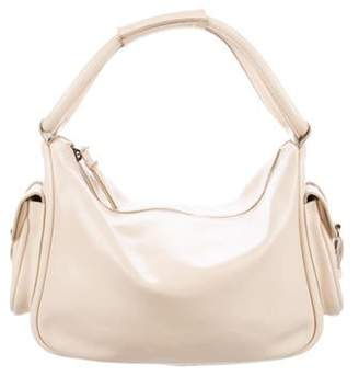 Miu Miu Leather Handle Bag gold Leather Handle Bag