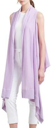 Donna Karan Women's Long Linen Open Cardigan